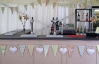 Wooden marquee bar